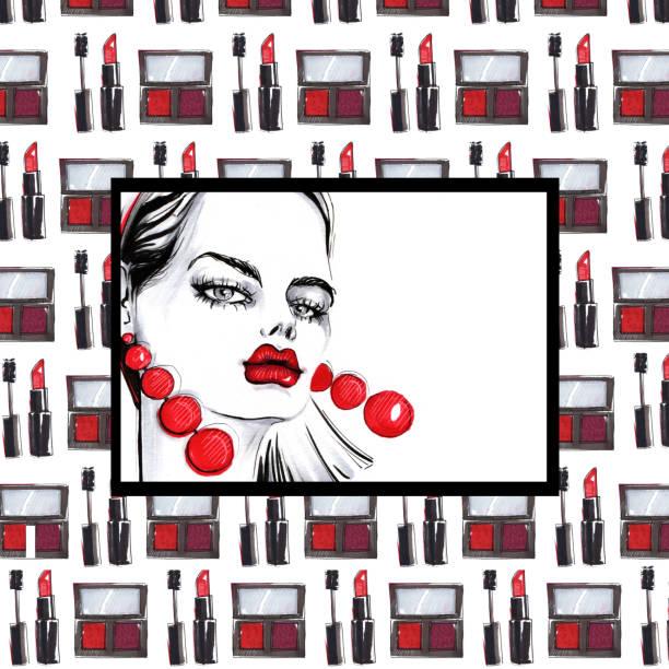 Fondo de dibujo de moda. - ilustración de arte vectorial