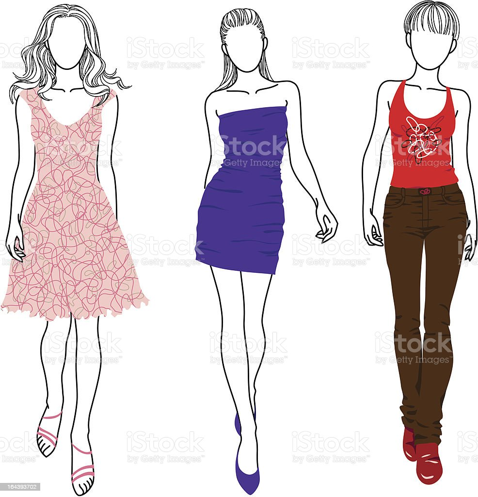 Fashion woman vector art illustration