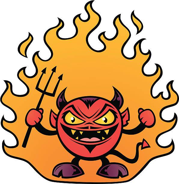 Fat Devil vector art illustration