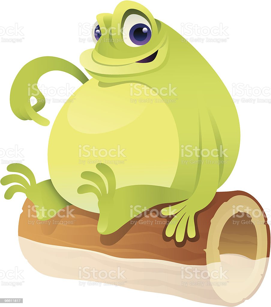 fat frog - Royaltyfri Amfibie vektorgrafik