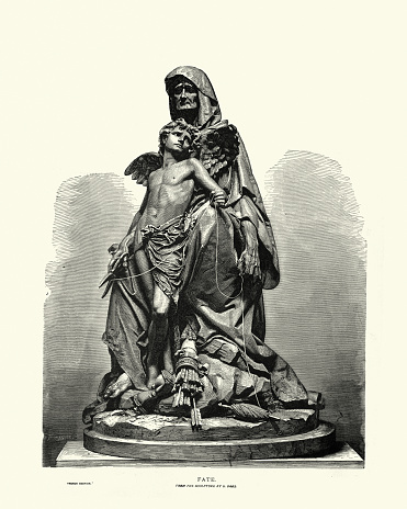 Fate and Love by Gustave Dore, Sculpture