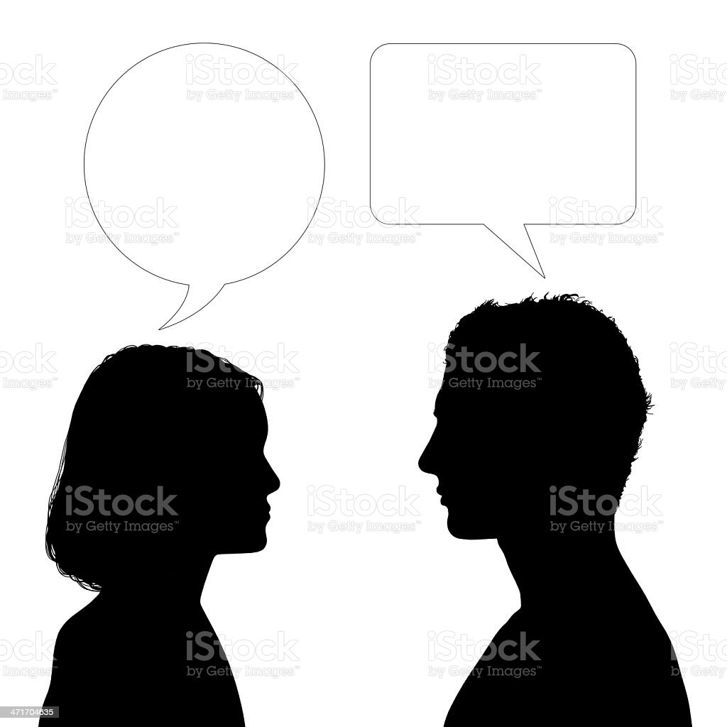 father and daughter dialogue vector art illustration