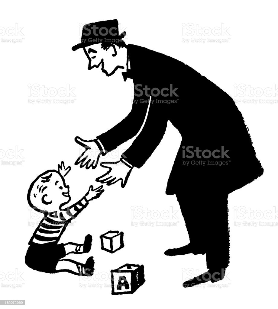 Father and Son Home Coming royalty-free stock vector art