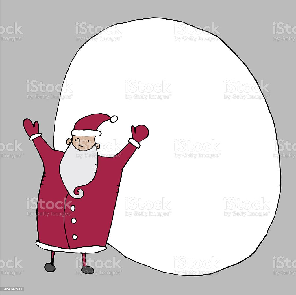Father Christmas royalty-free stock vector art