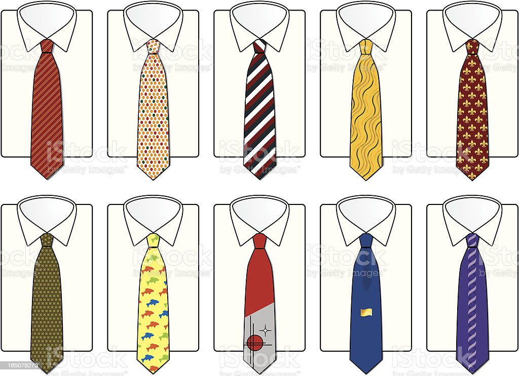 Father's Day Ties royalty-free fathers day ties stock vector art & more images of art deco