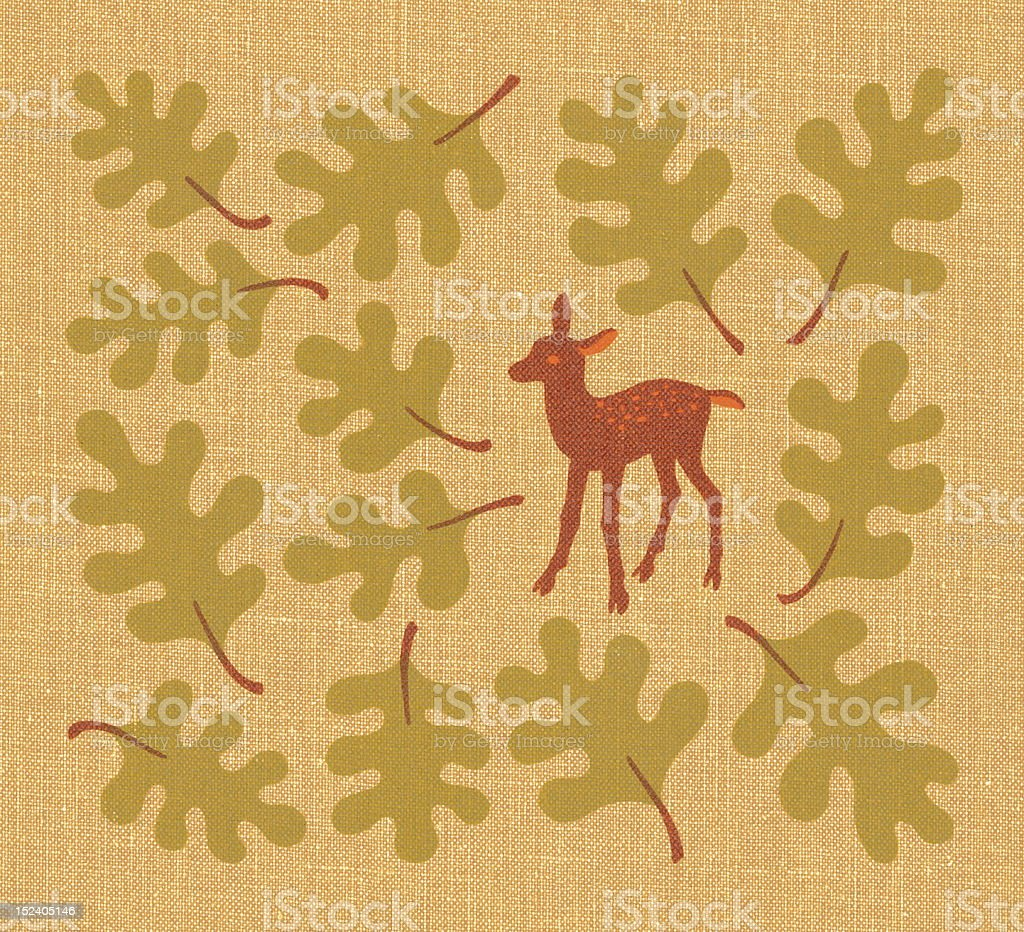 Fawn Among Leaves royalty-free fawn among leaves stock vector art & more images of animal