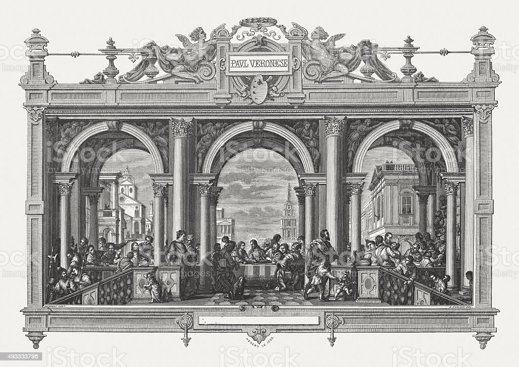 Feast In The House Of Levi By Paolo Veronese Stock Vector ...
