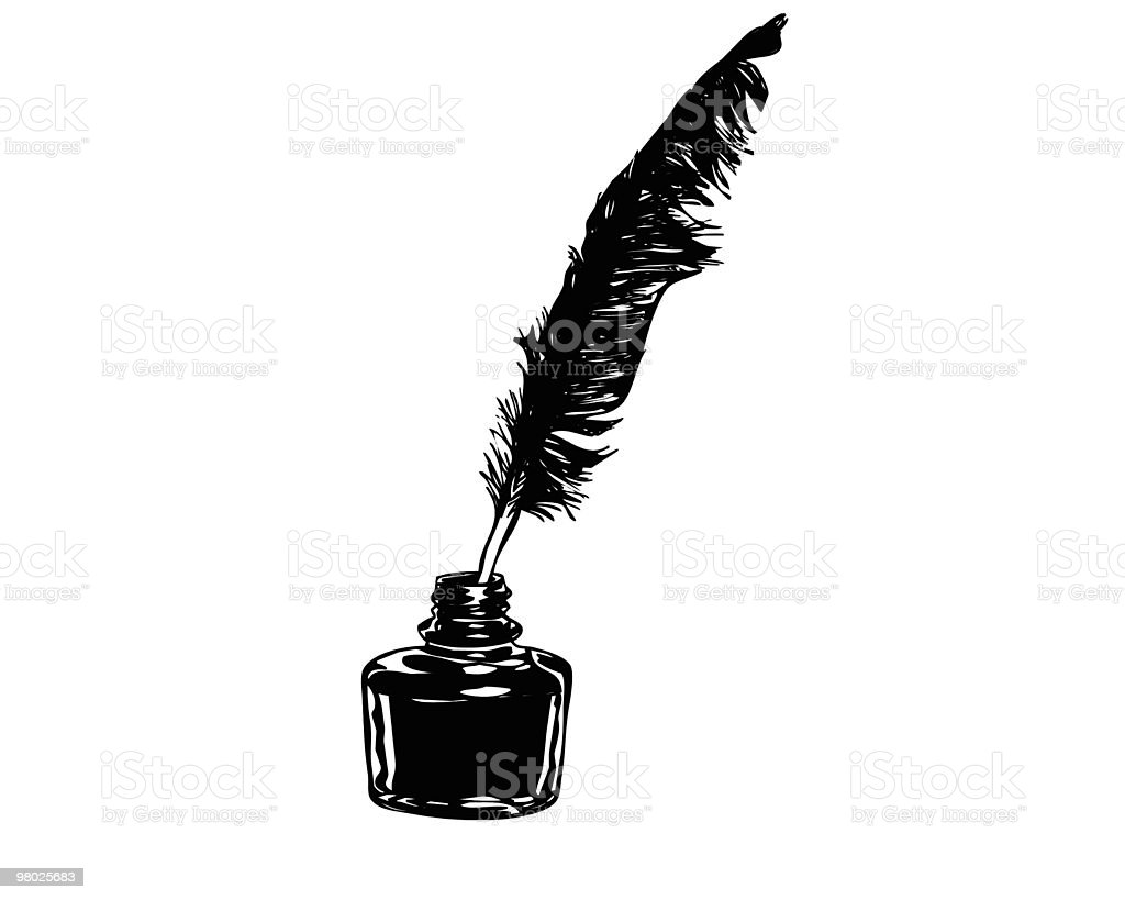 feather and ink royalty-free stock vector art