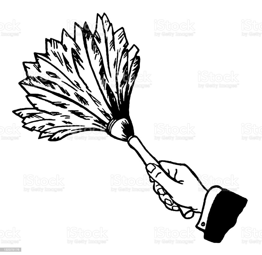 feather duster stock vector art more images of black and white Duster Can feather duster royalty free feather duster stock vector art more images of black