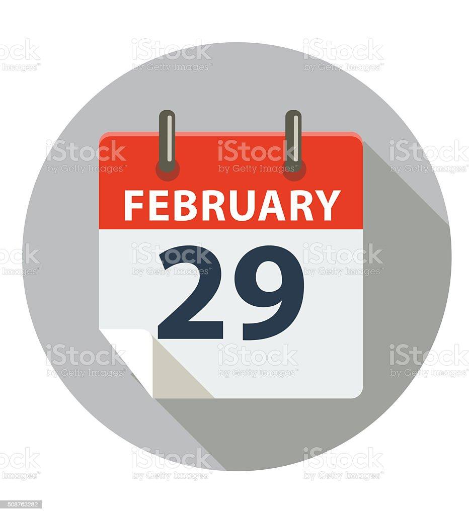 February 29 - Leap Day vector art illustration