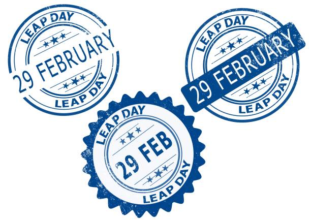 29 february leap day, leap year - leap year stock illustrations