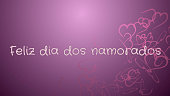 Feliz dia dos Namorados, Happy Valentine's day in portuguese language, greeting card