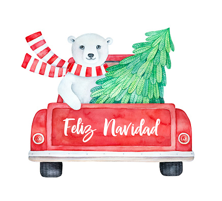 """Feliz Navidad"" (""Merry Christmas"" in Spanish language) greeting card."