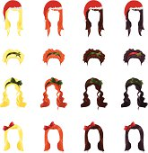Assortment of Christmas hairstyles for female