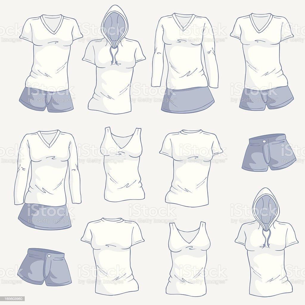 Weibliche Kleidung – Vektorgrafik