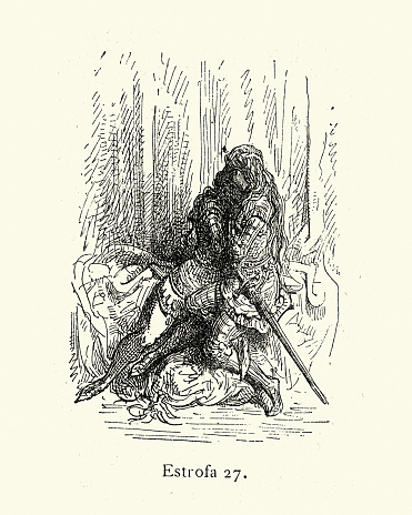 Female knight embracing, Medieval Chivalric romance