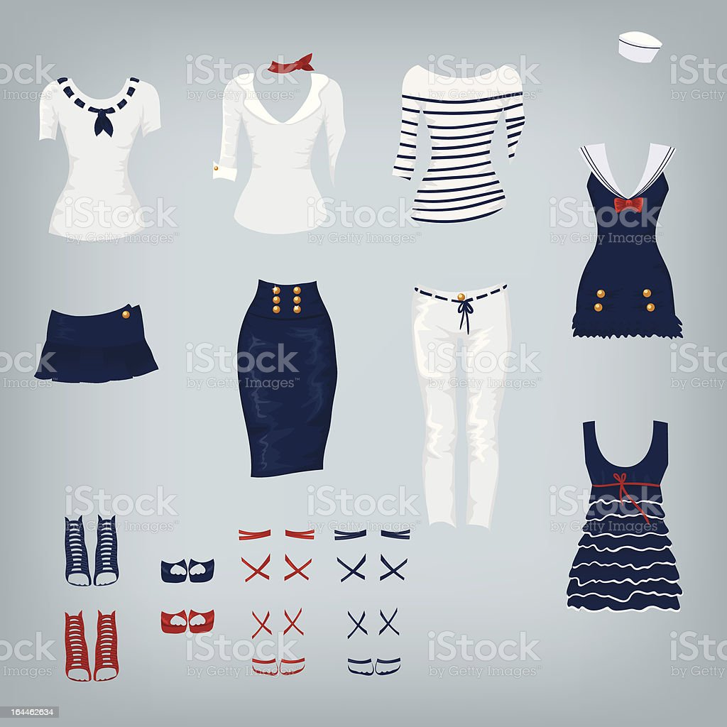 Female Navy Clothes royalty-free female navy clothes stock vector art & more images of adult
