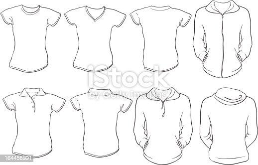 Female shirts template