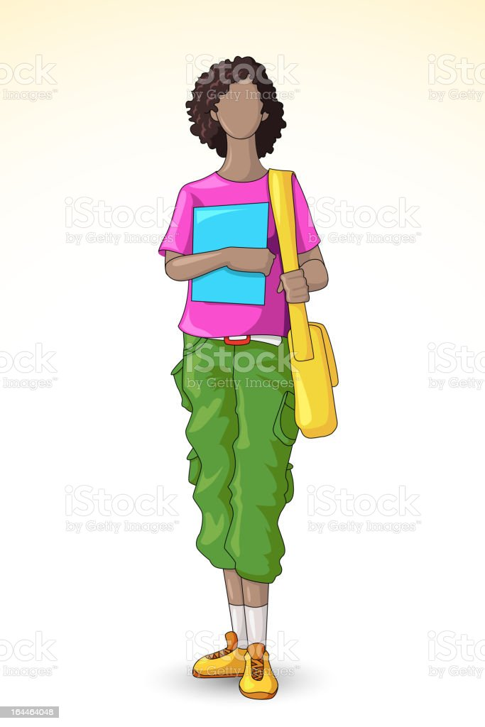 Female Student royalty-free female student stock vector art & more images of adolescence