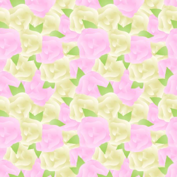Feminine rose seamless pattern vector art illustration