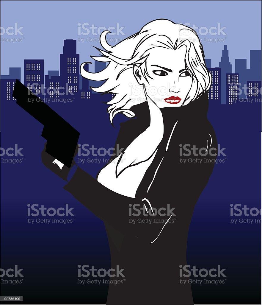 femme fatale – Vektorgrafik