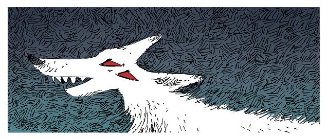 ferocious wolf