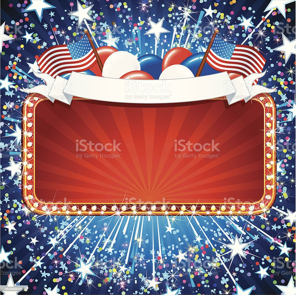 Festive American Sign royalty-free festive american sign stock vector art & more images of advertisement