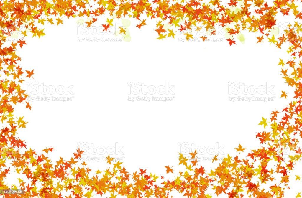 Festlicher Helle Rahmen Von Herbstlaub Und Transparente Blütenblatt ...
