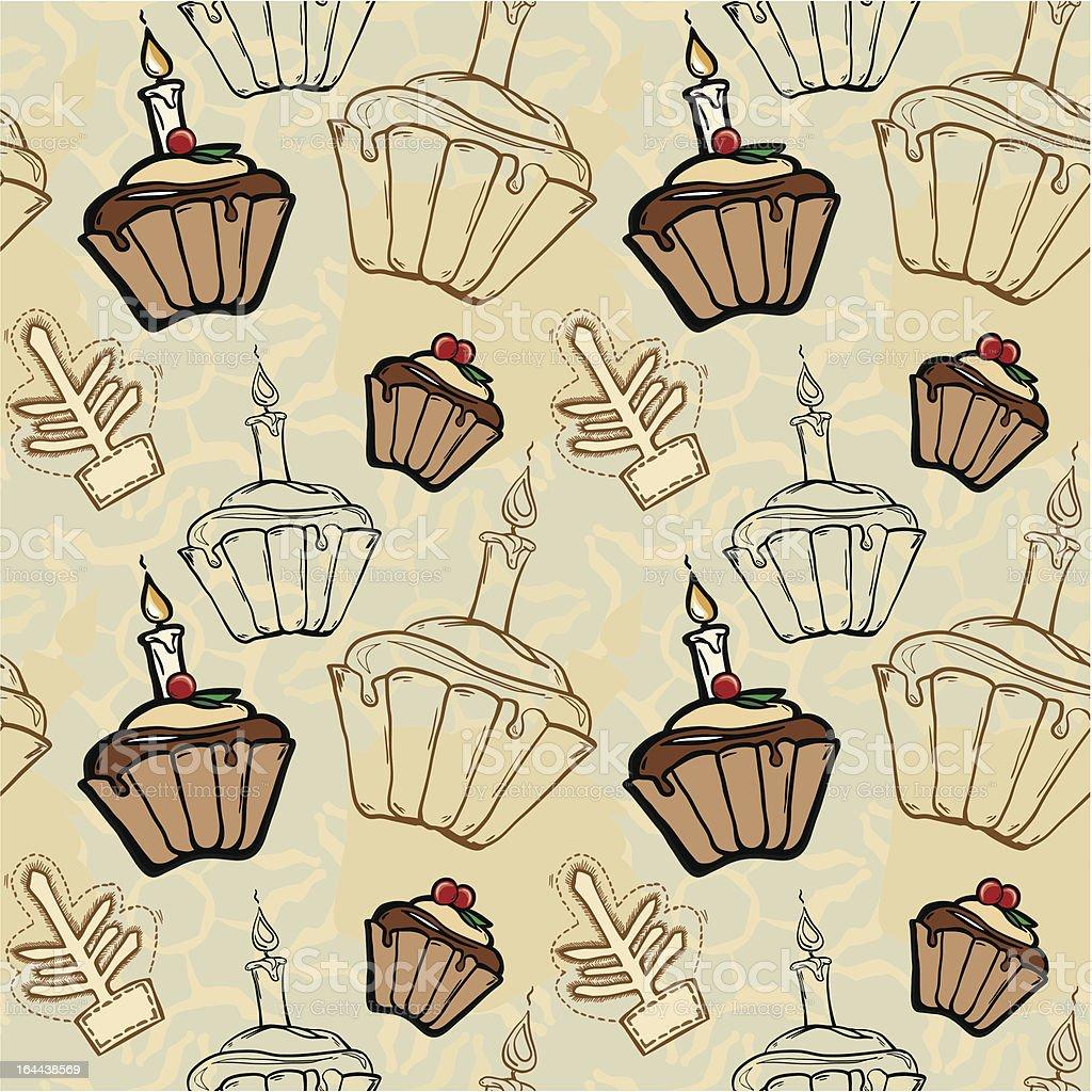 Festive Christmas fruitcakes royalty-free stock vector art