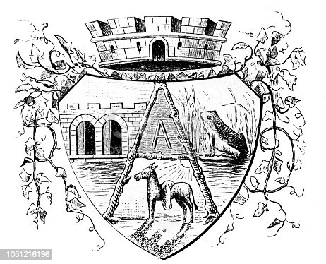 Fictitious Coat of Arms with riddles elements - 1888