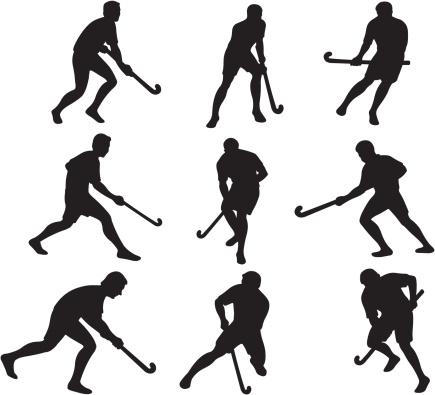 Field Hockey Silhouettes