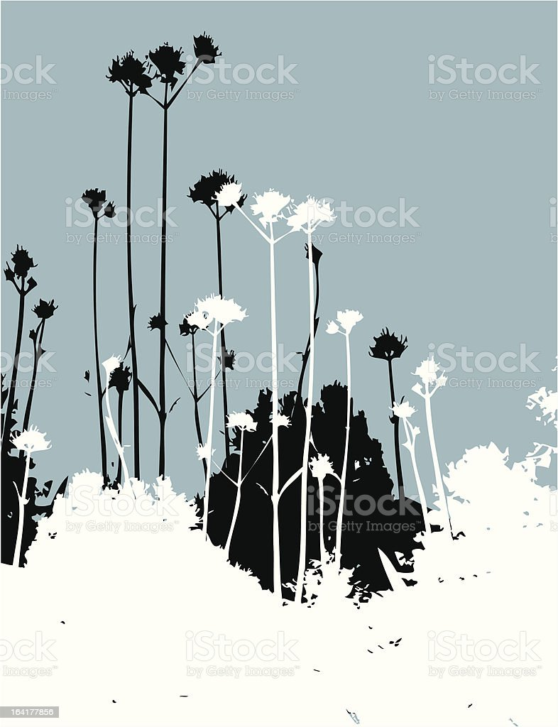 Field on blue royalty-free stock vector art