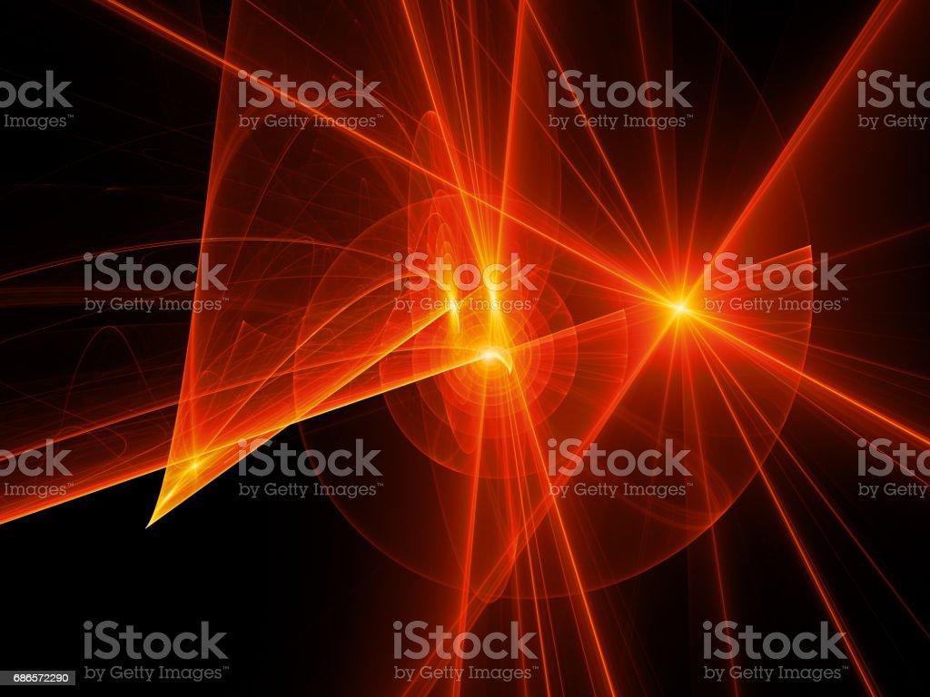 Fiery glowing spiral trajectories in space, futuristic technology fiery glowing spiral trajectories in space futuristic technology - immagini vettoriali stock e altre immagini di astratto royalty-free