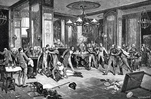 A fight at Cafe de La Rotonde