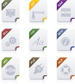 File type icons: Programms & System