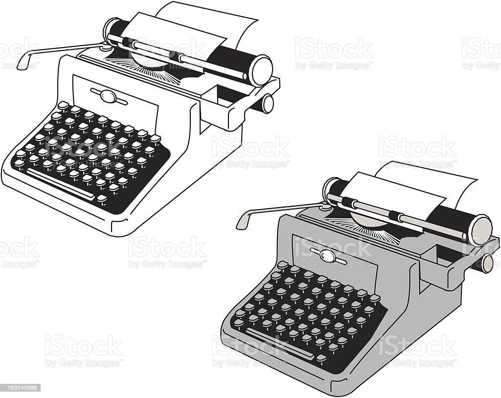 EPS File - Typewriter royalty-free stock vector art