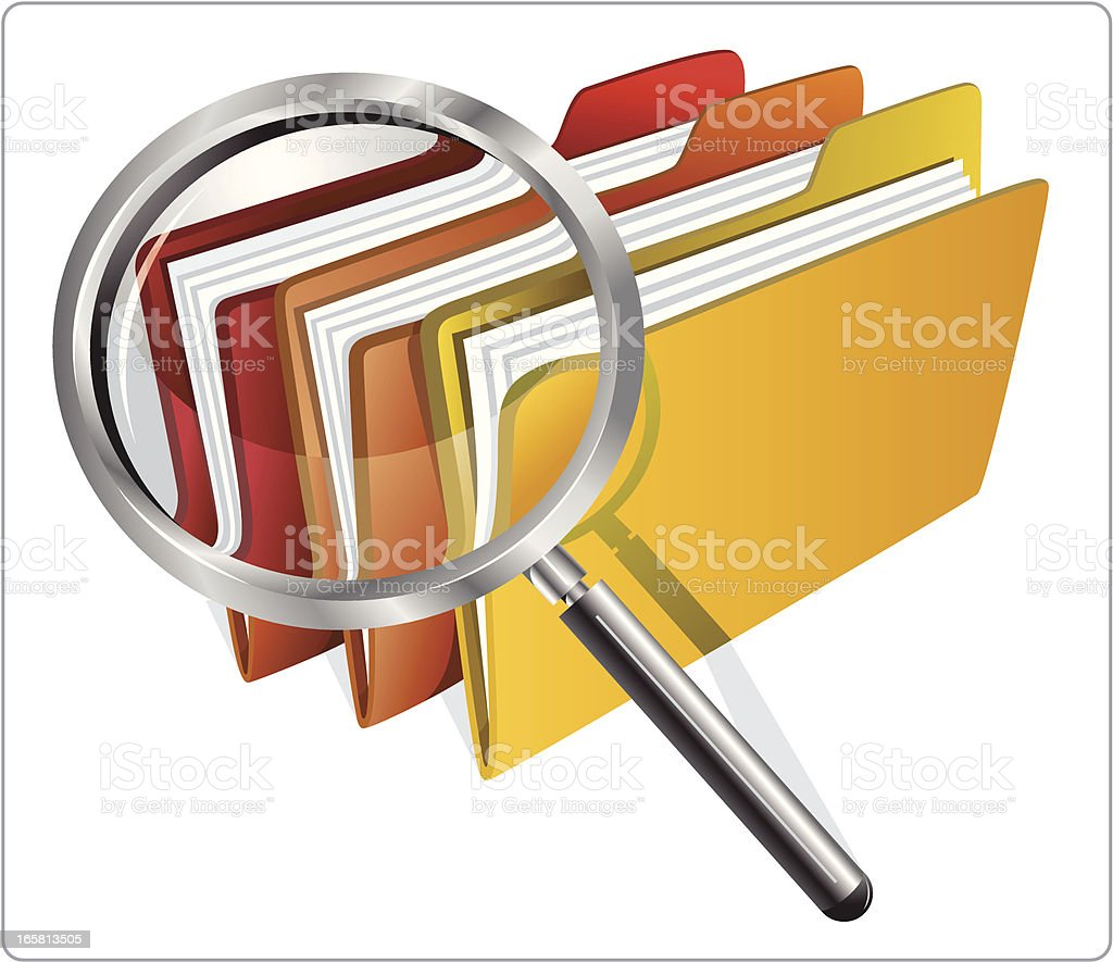 file with magnifying glass royalty-free stock vector art