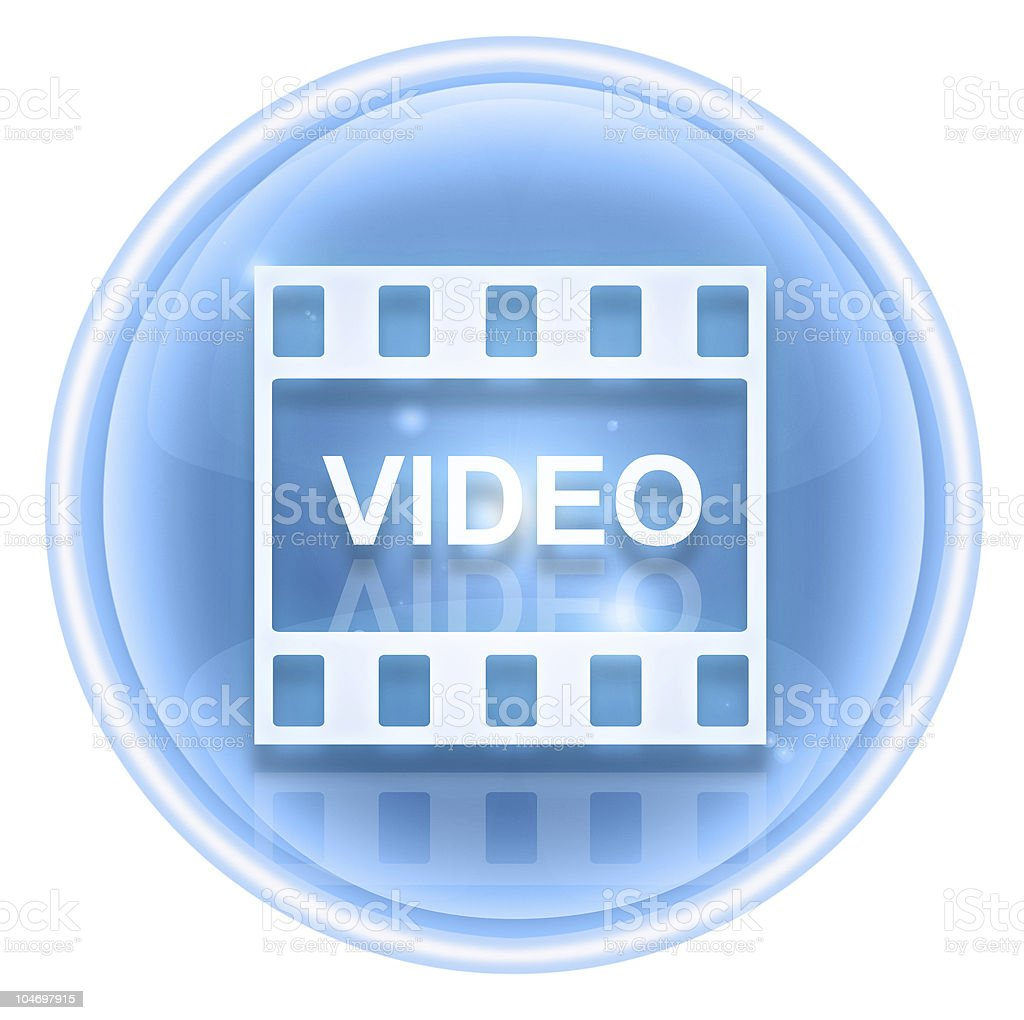 Film icon ice, isolated on white background. royalty-free stock vector art
