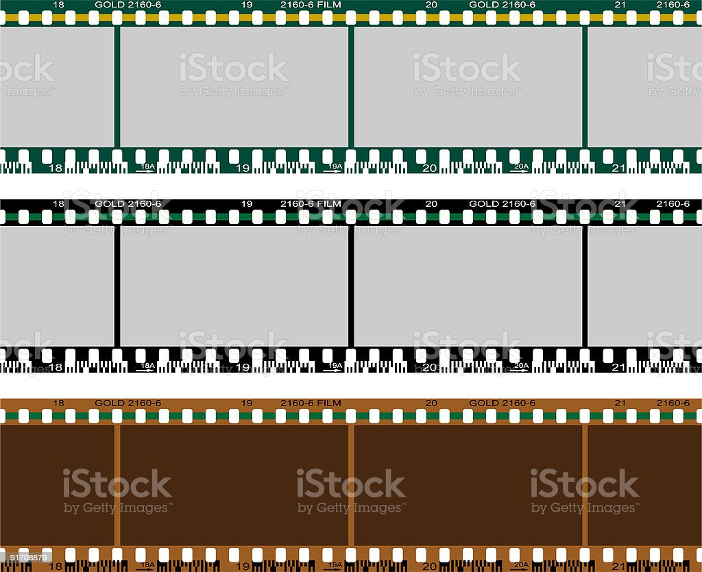 Film Negative Set royalty-free film negative set stock vector art & more images of black color