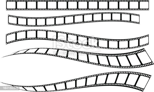 film strip - straight and curved. Download includes illustrator CS3.ai file