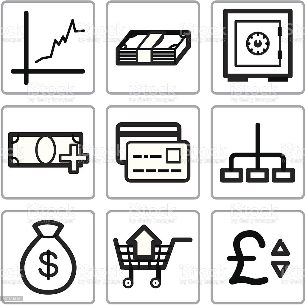 Finance icons set royalty-free finance icons set stock vector art & more images of bag