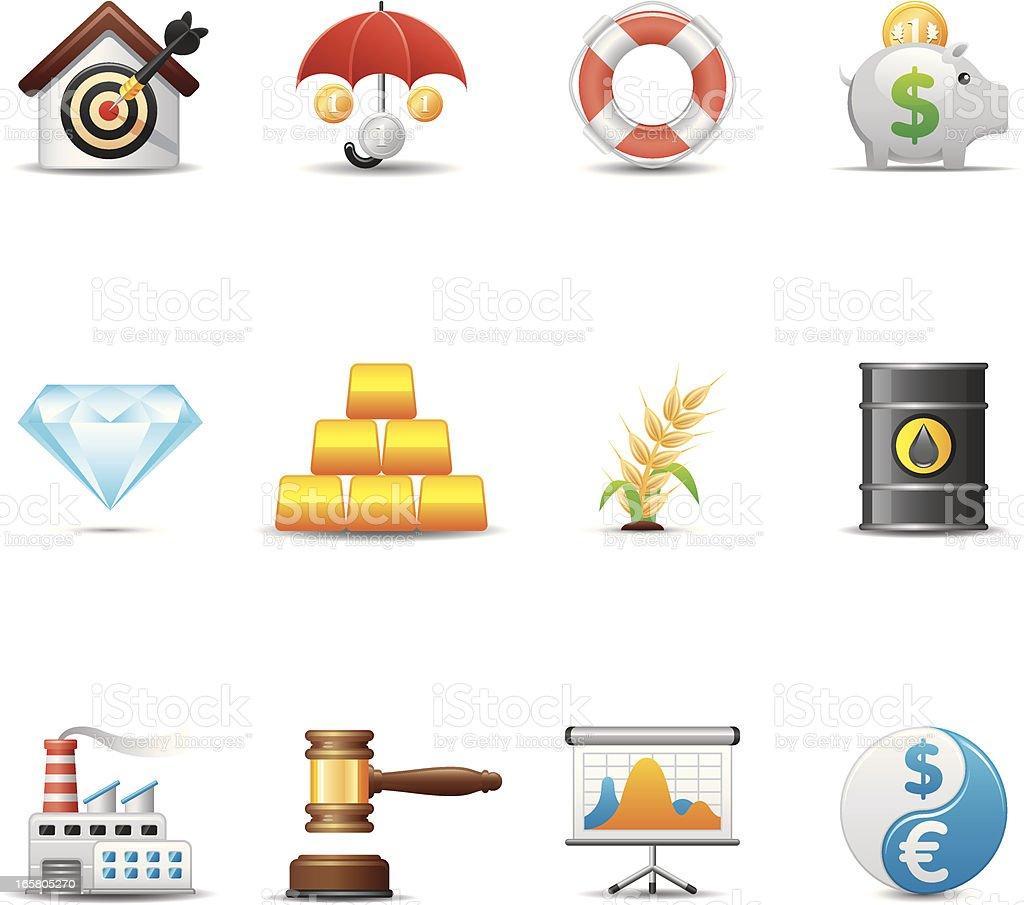Finance & Investment Icon Set | Elegant Series royalty-free stock vector art