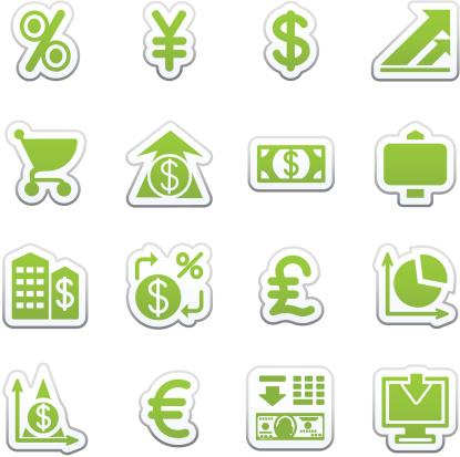 Finance web icons.