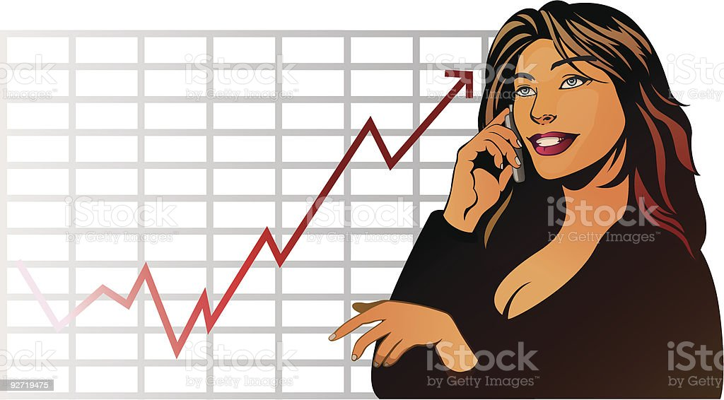Financial business woman royalty-free stock vector art