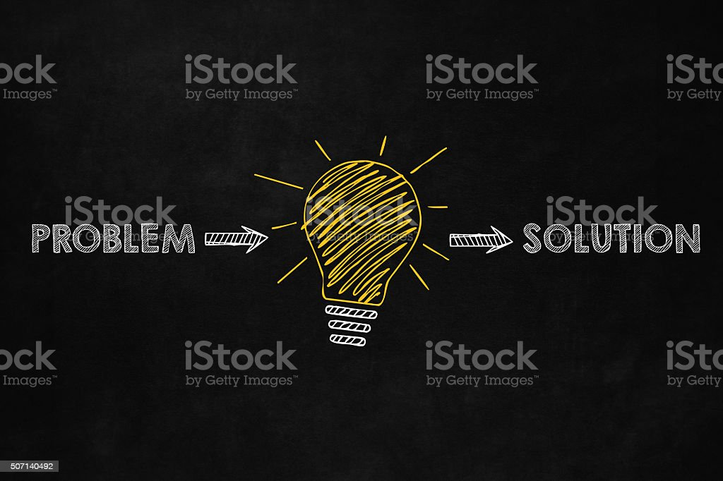 Find solution concept vector art illustration