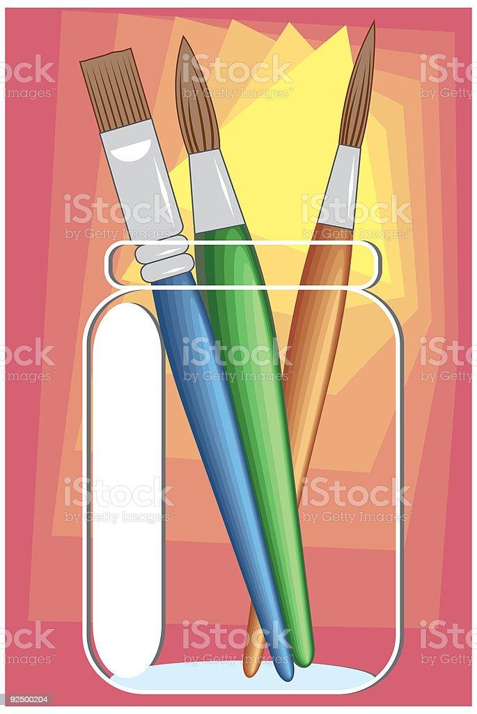 Fine Art Brushes royalty-free fine art brushes stock vector art & more images of art