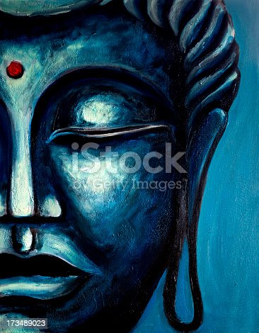 istock Fine Art: Buddha Painting 173489023