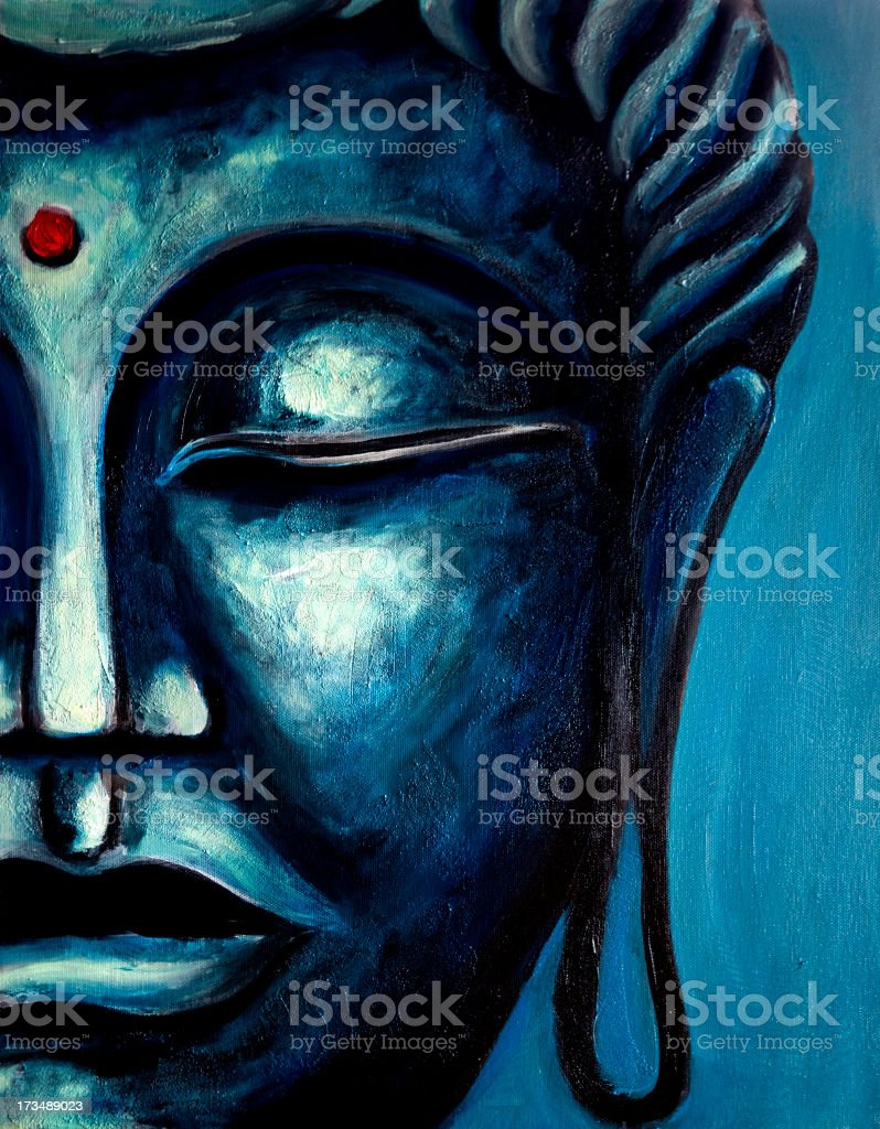 Fine Art: Buddha Painting vector art illustration