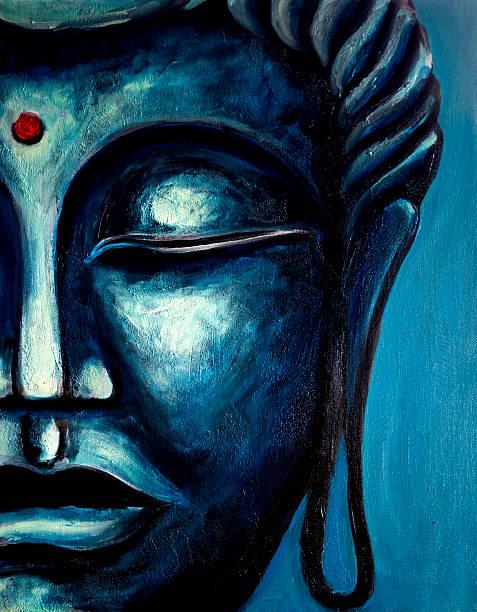Fine Art: Buddha Painting vector art illustration