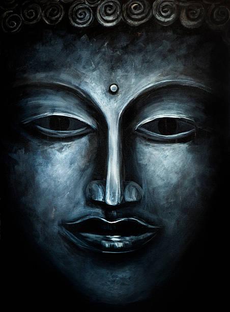 fine art: buddha painting - buddha stock illustrations, clip art, cartoons, & icons
